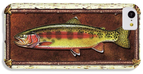 Trout iPhone 5c Case - Golden Trout Lodge by JQ Licensing
