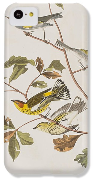 Golden Winged Warbler Or Cape May Warbler IPhone 5c Case by John James Audubon