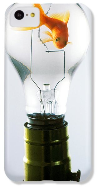 Goldfish In Light Bulb  IPhone 5c Case by Garry Gay