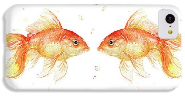 Goldfish Love Watercolor IPhone 5c Case by Olga Shvartsur