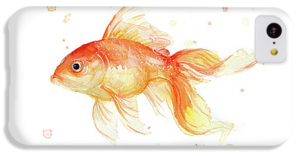 Goldfish Painting Watercolor IPhone 5c Case by Olga Shvartsur