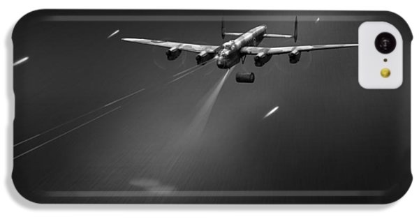 IPhone 5c Case featuring the photograph Goner From Dambuster J-johnny Bw Version by Gary Eason