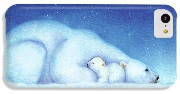 Polar Bear iPhone 5c Case - Arctic Bears, Goodnight Nanook by Tracy Herrmann