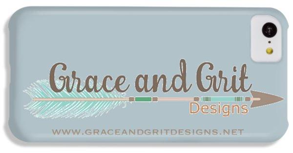 Grace And Grit Logo IPhone 5c Case by Elizabeth Taylor