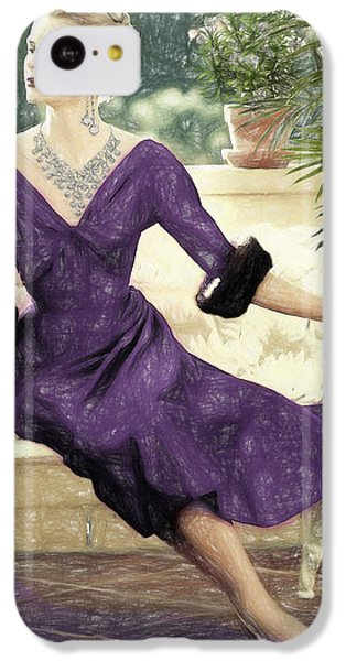 Grace Kelly Draw IPhone 5c Case by Quim Abella