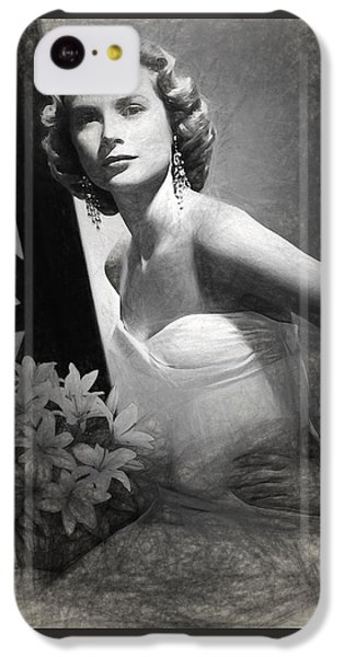 Grace Kelly Drawing IPhone 5c Case by Quim Abella