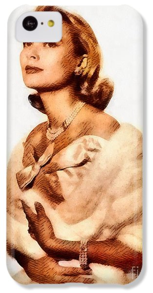 Grace Kelly iPhone 5c Case - Grace Kelly, Vintage Actress By John Springfield by John Springfield
