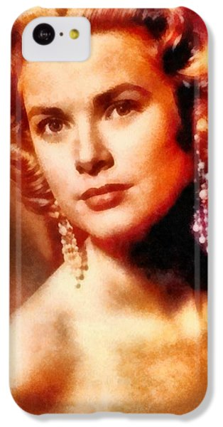Grace Kelly iPhone 5c Case - Grace Kelly, Vintage Hollywood Actress by Frank Falcon