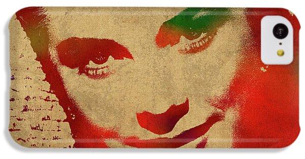 Grace Kelly Watercolor Portrait IPhone 5c Case by Design Turnpike