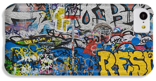Grafitti On The U2 Wall, Windmill Lane IPhone 5c Case by Panoramic Images