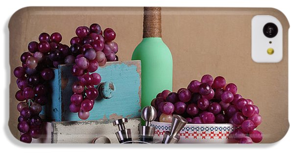 Fruit Bowl iPhone 5c Case - Grapes With Wine Stoppers by Tom Mc Nemar