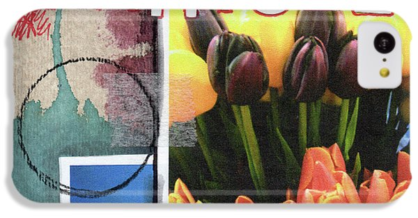 Tulip iPhone 5c Case - Gratitude- Art By Linda Woods by Linda Woods