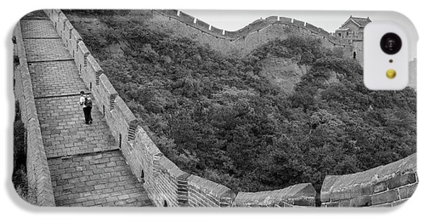 IPhone 5c Case featuring the photograph Great Wall 9, Jinshanling, 2016 by Hitendra SINKAR