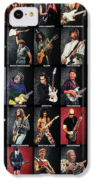 Eric Clapton iPhone 5c Case - Greatest Guitarists Of All Time by Zapista