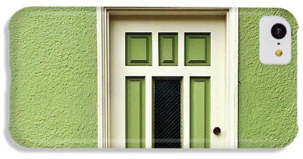 iPhone 5c Case - Green Door Detail by Julie Gebhardt