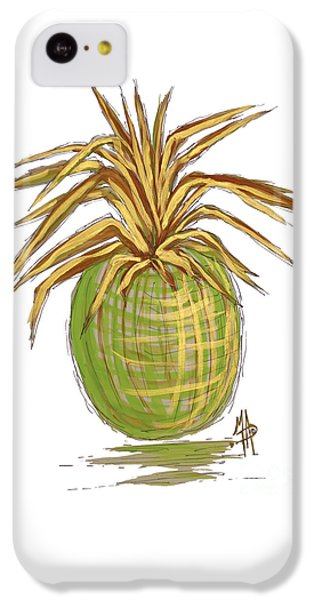 Green Gold Pineapple Painting Illustration Aroon Melane 2015 Collection By Madart IPhone 5c Case