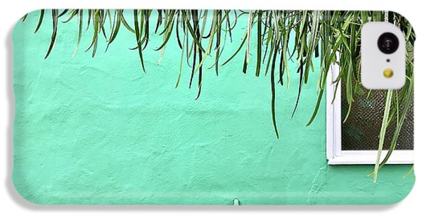 iPhone 5c Case - Green Wall With Leaves by Julie Gebhardt