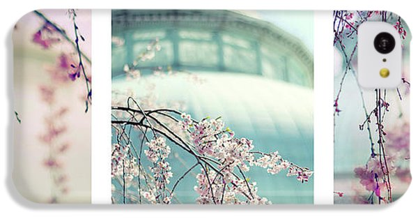 IPhone 5c Case featuring the photograph Greenhouse Blossoms Triptych by Jessica Jenney