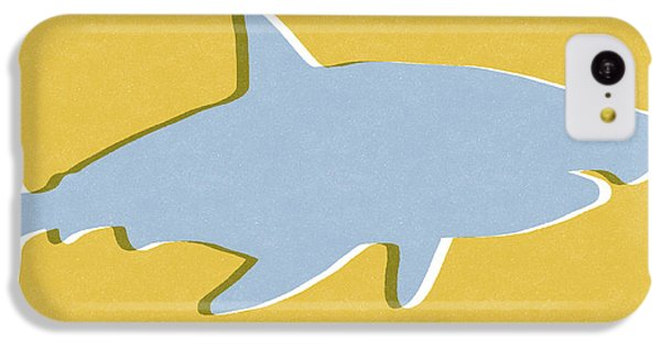 Sharks iPhone 5c Case - Grey And Yellow Shark by Linda Woods