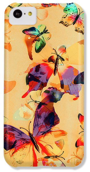 Group Of Butterflies With Colorful Wings IPhone 5c Case