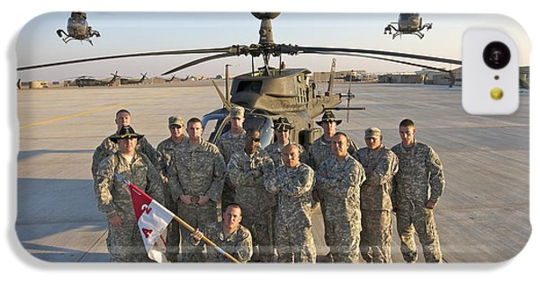 Helicopter iPhone 5c Case - Group Photo Of U.s. Soldiers At Cob by Terry Moore