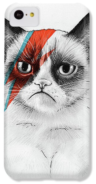 Portraits iPhone 5c Case - Grumpy Cat As David Bowie by Olga Shvartsur