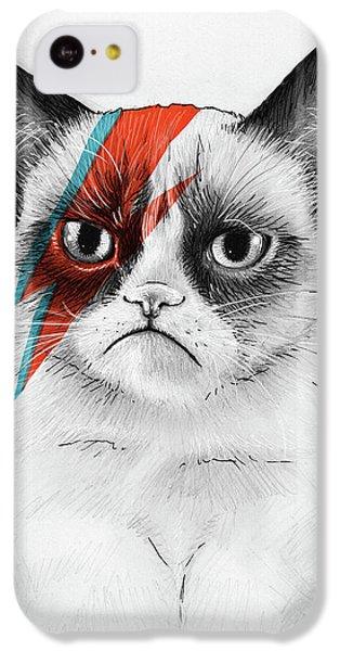Cat iPhone 5c Case - Grumpy Cat As David Bowie by Olga Shvartsur