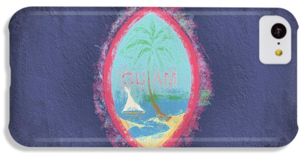 IPhone 5c Case featuring the digital art Guam Flag by JC Findley
