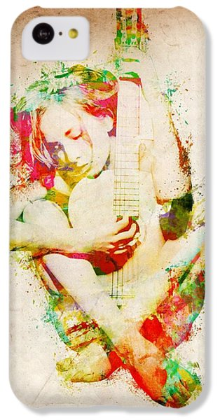 Rock And Roll iPhone 5c Case - Guitar Lovers Embrace by Nikki Smith