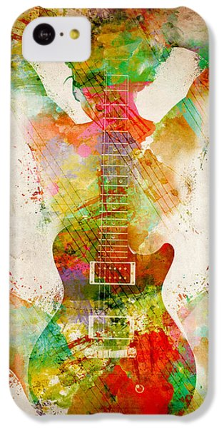 Guitar iPhone 5c Case - Guitar Siren by Nikki Smith