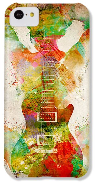 Guitar Siren IPhone 5c Case by Nikki Smith