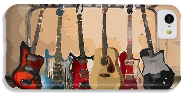 Musical iPhone 5c Case - Guitars On A Rack by Arline Wagner