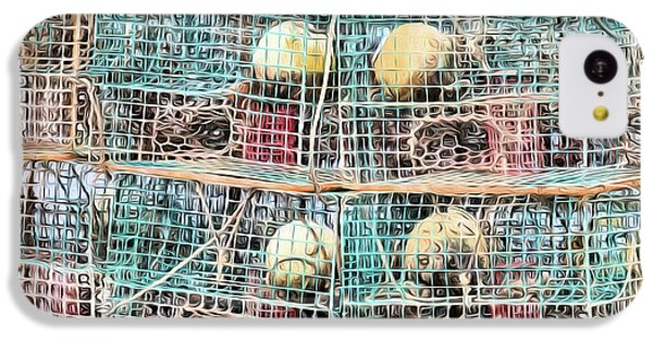 IPhone 5c Case featuring the digital art Gulf Coast Crab Traps by JC Findley