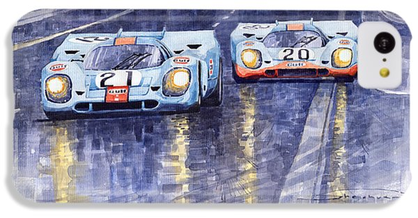 Car iPhone 5c Case - Gulf-porsche 917 K Spa Francorchamps 1970 by Yuriy Shevchuk