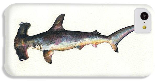 Hammerhead Shark iPhone 5c Case - Hammerhead Shark by Juan Bosco