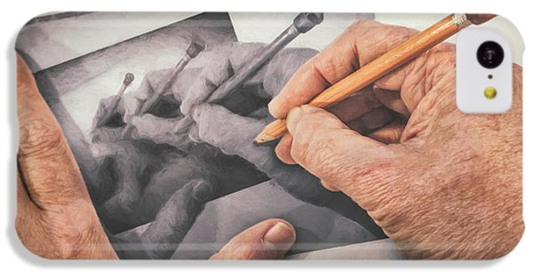 Repeat iPhone 5c Case - Hands Drawing Hands by Scott Norris