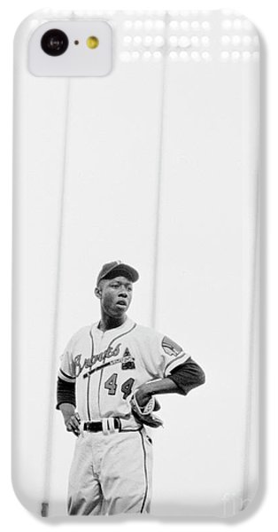 Hank Aaron On The Field, 1958 IPhone 5c Case by The Harrington Collection