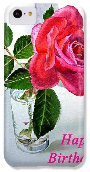 Happy Birthday Card Rose  IPhone 5c Case