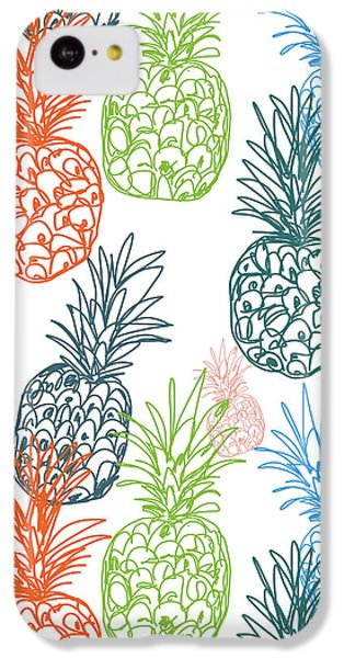 Happy Pineapple- Art By Linda Woods IPhone 5c Case