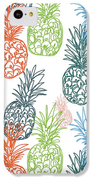 Happy Pineapple- Art By Linda Woods IPhone 5c Case by Linda Woods