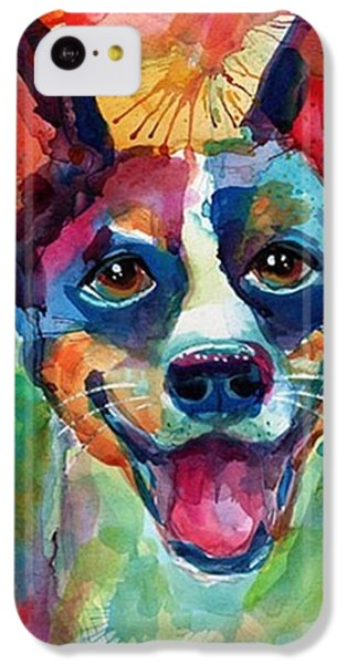 Happy Rat Terrier Watercolor Portrait IPhone 5c Case