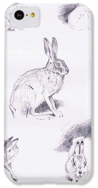 Hare Studies IPhone 5c Case by Archibald Thorburn
