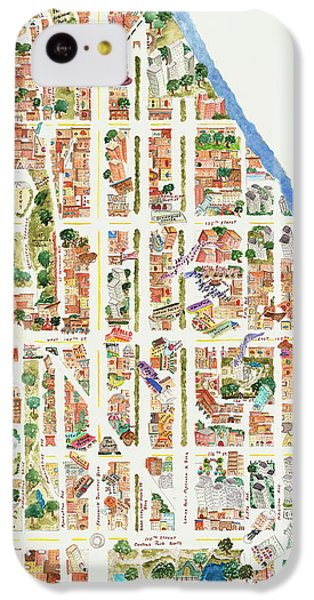 Harlem iPhone 5c Case - Harlem From 106-155th Streets by Afinelyne