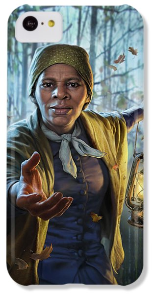 London Tube iPhone 5c Case - Harriet Tubman by Mark Fredrickson