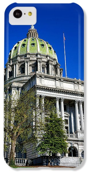 Capitol Building iPhone 5c Case - Harrisburg Capitol Building by Olivier Le Queinec