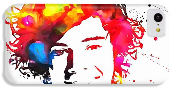 Harry Styles Paint Splatter IPhone 5c Case by Dan Sproul