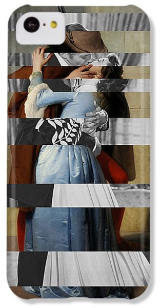 Hayes's The Kiss And Vivien Leigh With Clark Gable IPhone 5c Case by Luigi Tarini