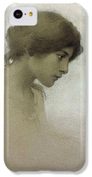 Portraits iPhone 5c Case - Head Of A Girl  by Franz Dvorak