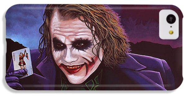 Knight iPhone 5c Case - Heath Ledger As The Joker Painting by Paul Meijering
