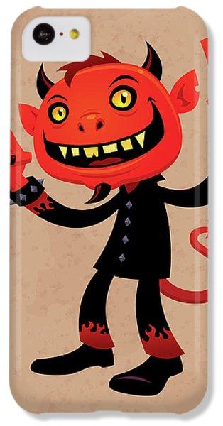 Music iPhone 5c Case - Heavy Metal Devil by John Schwegel